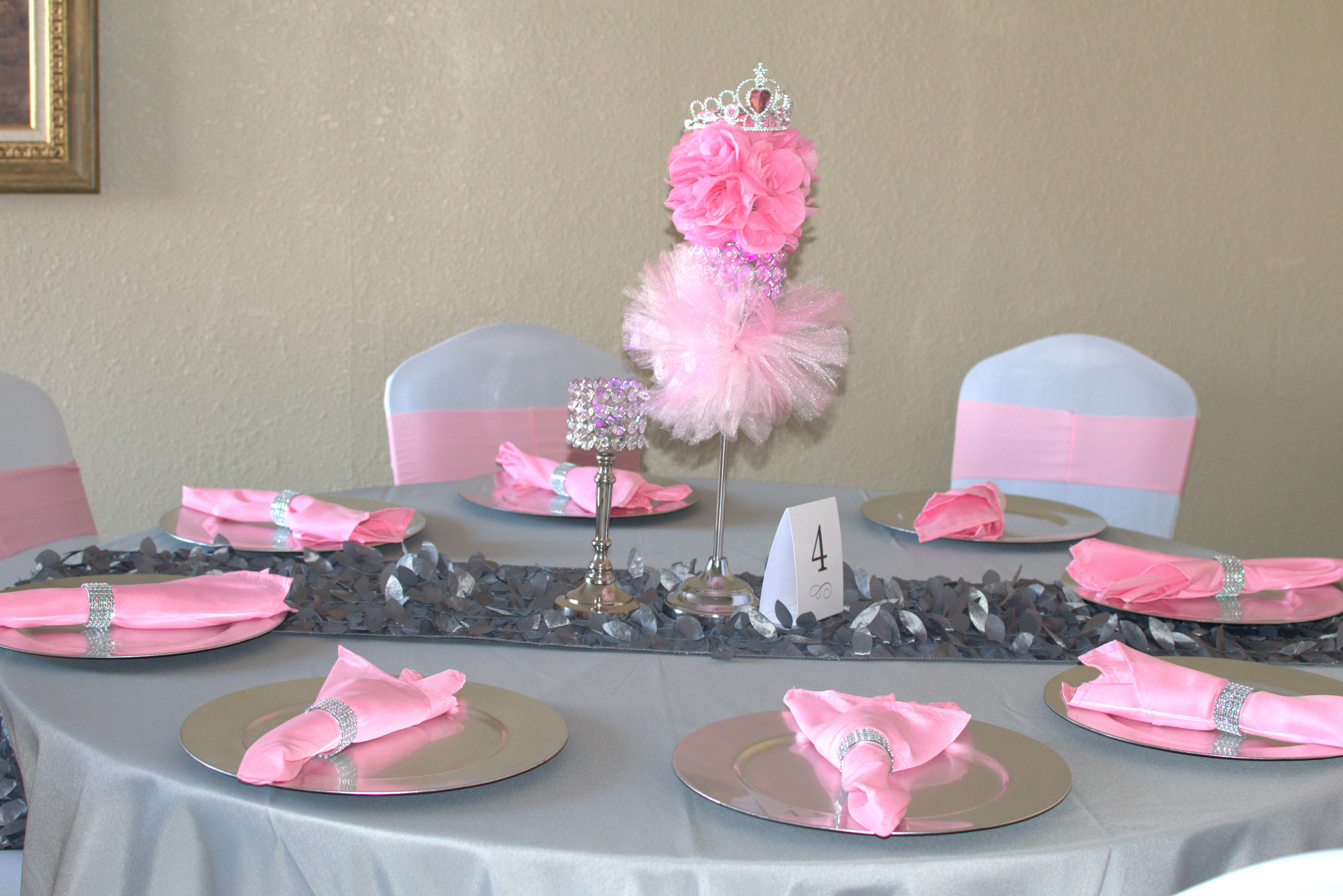 Pink & Silver Princess Baby Shower 3 11 2017 My Party Queen