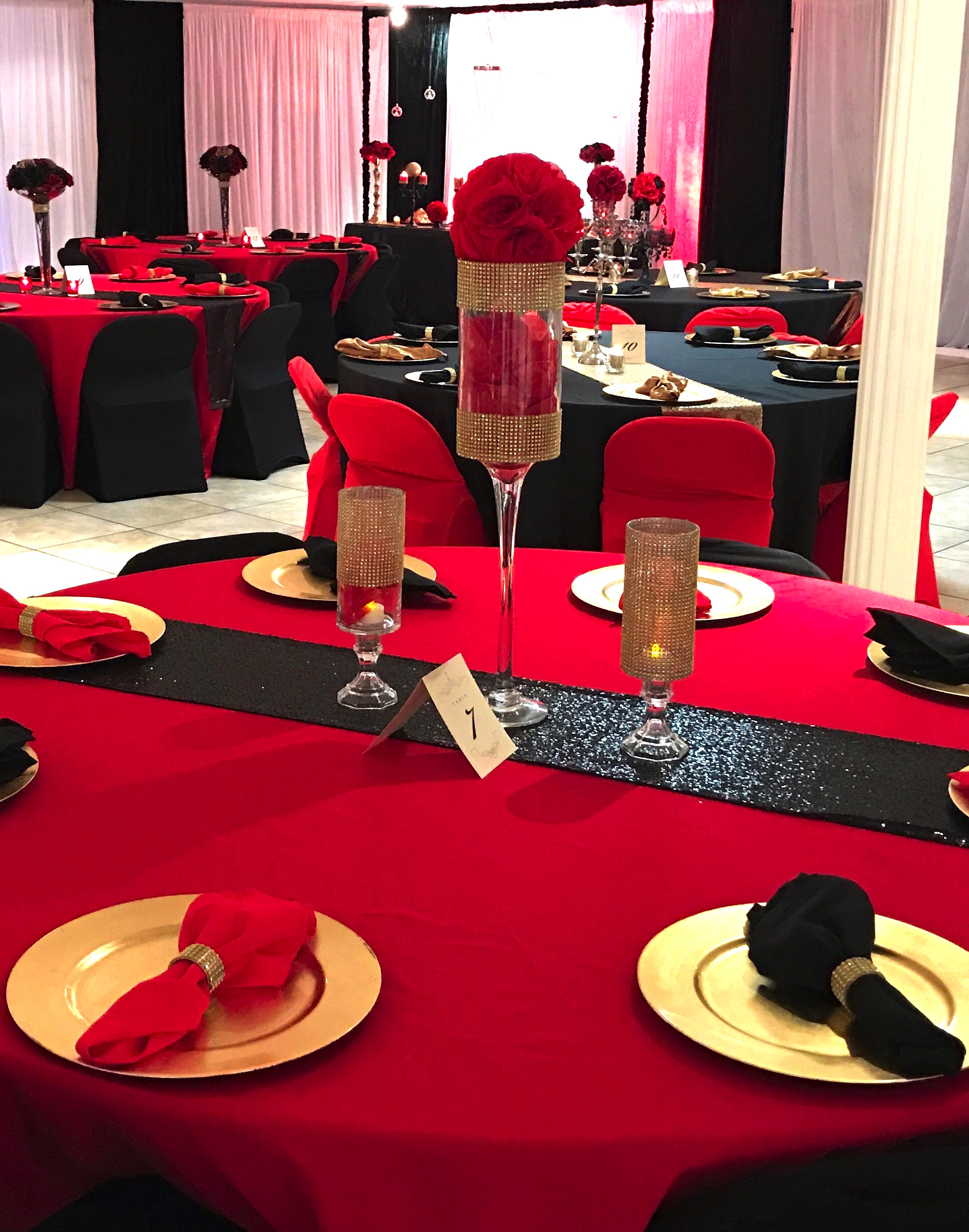 Black and Red 80th Birthday Party 412017 My Party Queen