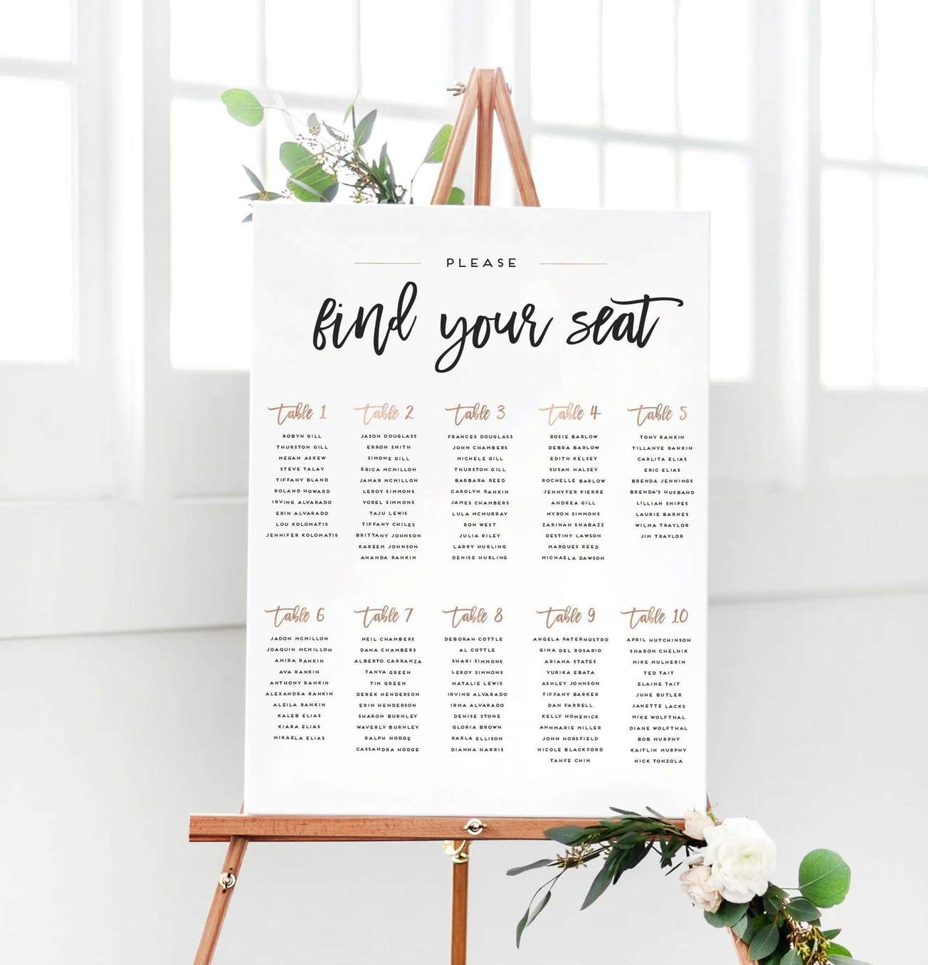 Seating Chart Wedding.Custom Seating Charts Now Available My Party Queen